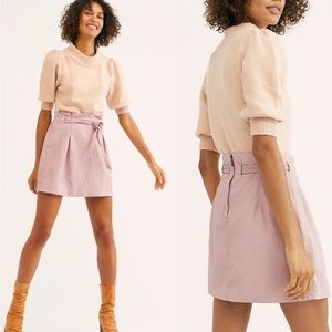 NWT FP free people skirt paper bag faux leather